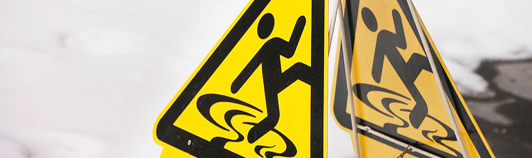 slip and fall signage